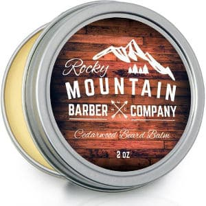 Beard Balm - Rocky Mountain Barber - 100% Natural - Premium Wax Blend with Cedarwood Scent