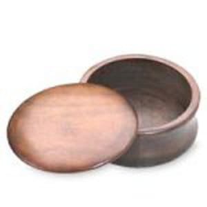 Kingsley Shave Soap Bowl with Lid (wood)