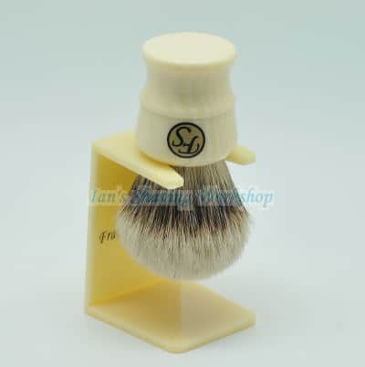 Silvertip Badger Shaving Brush with Faux Ivory handle