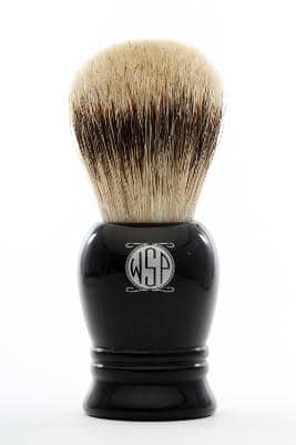 "High Density Premium Silvertip Badger Shaving Brush WSP ""Prince"" (black)"