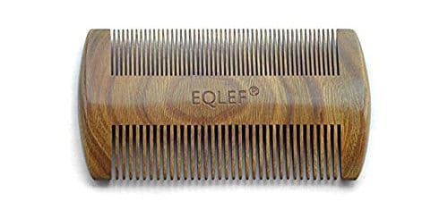 EQLEF Green Sandalwood No Static Comb