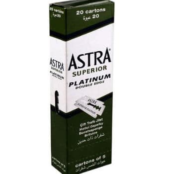 100 Astra Superior Platinum Double Edge Safety Blades