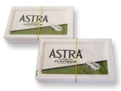 Astra Superior Platinum Double Edge Razor Blades 30 Count