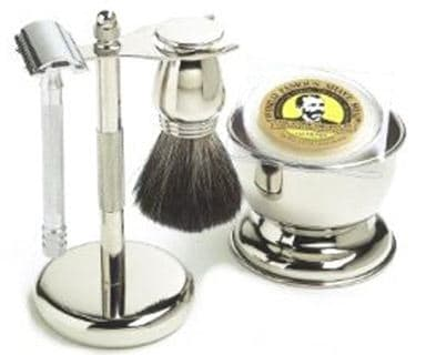 5 Piece Col. Conk Chrome Shaving Men's Grooming Set