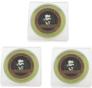 3 Pack 2.25 ounce Colonel Conk Lime Shaving Soap