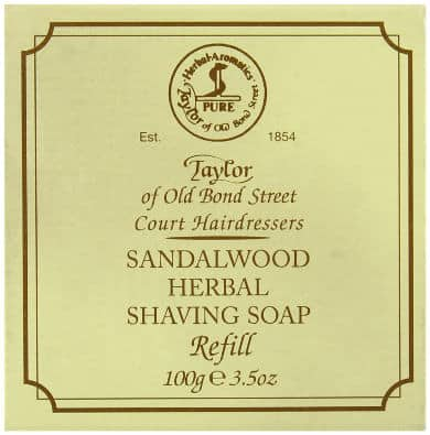 Taylor of Old Bond Street Sandalwood Hard Shaving Soap