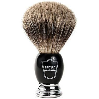 Parker Safety Razor 100% Pure Badger Bristle Shaving Brush Black