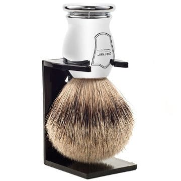 Parker Safety Razor 100% Silvertip Badger Bristle Shaving Brush
