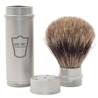 Parker Pure Badger Travel Shave Brush