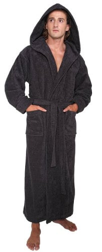 Arus Men's Hood' N Full Ankle Length Hooded Turkish Bathrobe