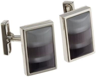 Kenneth Cole Men´s Shades of Gray Mosaic Fiber Optic Glass Cufflinks
