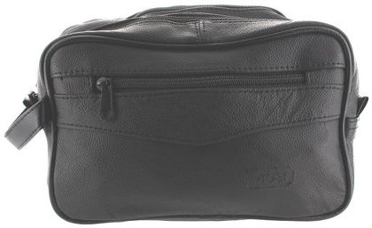 Genuine Leather Shaving/Toiletry Travel Bag by Viosi