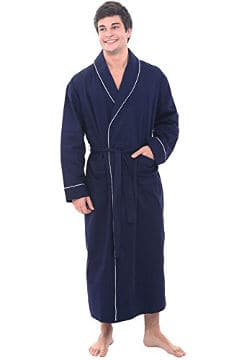 del rossa menu0027s cotton robe lightweight woven bathrobe - Mens Bathrobes