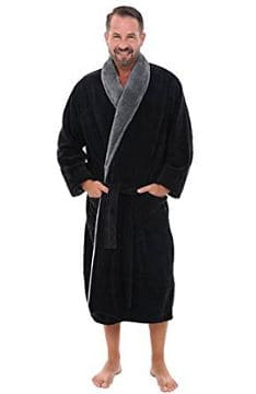 del-rossa-mens-fleece-robe-contrasting-shawl-collar-bathrobe