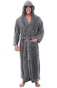 del-rossa-mens-fleece-robe-long-hooded-bathrobe