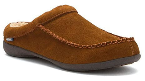 Vionic Barrow Men Moc Toe Suede Tan Slipper