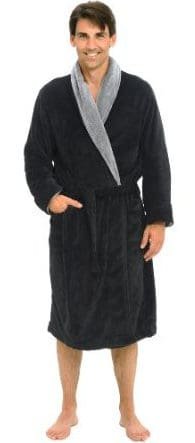 Del Rossa's Men's Water Absorbent Fleece Robe