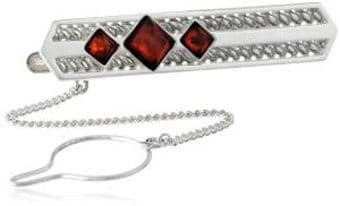 Men's Sterling Silver Cherry Filigree Classic Tie Pin
