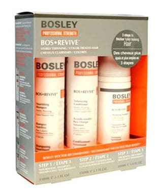 Bosley Revive Starter Pack for Visibly Thinner/ Color Treated Hair