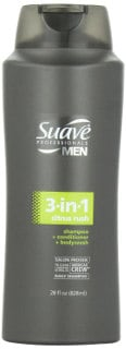 Suave Professionals Men's 3 in 1 Shampoo/Conditioner/Body Wash