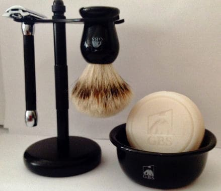 Shaving Gift Set with Merkur Safety Razor, Bowl, GBS Shaving soap, Badger Brush