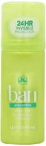 Ban Roll On Antiperspirant Deodorant Unscented