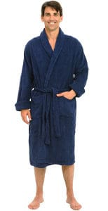 Alexander Del Rossa Men's Thick Terry Cloth Cotton Bathrobe