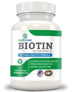Earth Cures 5-in-1 10,000mcg Biotin