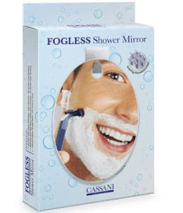 Fogless Shatterproof Shower Mirror with Razor Hook