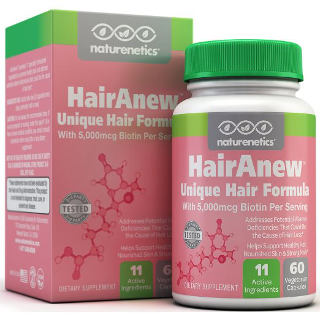 Naturenetics HairAnew Unique Hair Growth Vitamins with Biotin