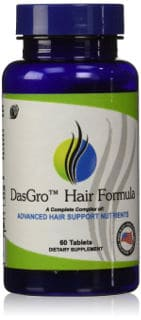 Pure DasGro Hair Formula All Natural Hair Growth Vitamins