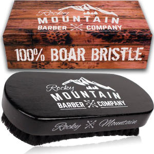 Rocky Mountain Pure Black Boar Hair Natural Bristle Military Brush