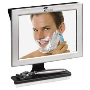 Toilet Tree Products Fogless Shower Mirror with Squeegee