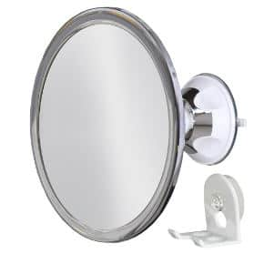 Upper West Collection No Fog Shower Mirror with Locking Suction