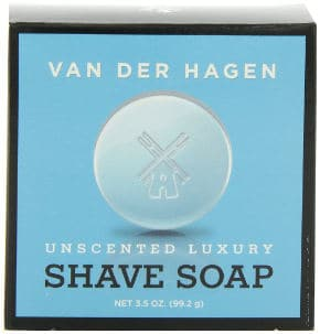 Van Der Hagen Men's Luxury Unscented Shaving Soap