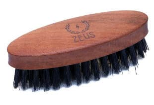 Zeus Boar Bristle Pocket Beard Brush for Men