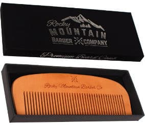 Rocky Mountain Barber Company Wood Hair Combs
