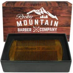 Rocky Mountain Beard Comb Natural Organic Sandalwood