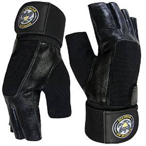 Weight Lifting Soft Leather Gym Gloves by US Muscle Division