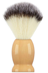 Bassion Hand Crafted 100% Pure Badger Shaving Brush with Hard Wood Handle