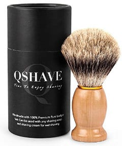 QSHAVE 100% Badger Hair Shaving Brush Handmade