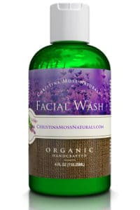 Christina Moss Naturals Facial Wash, Organic and 100% Natural Face Cleanser