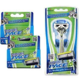 Dorco Pace 6 Plus- 6 Blade Razor System with Trimmer and 10 Cartridges
