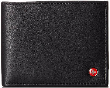Alpine Swiss Men's Leather Flipout ID Bifold Trifold Wallet