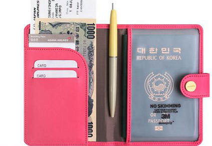 JnjStella RFID Blocking Passport Compact Case