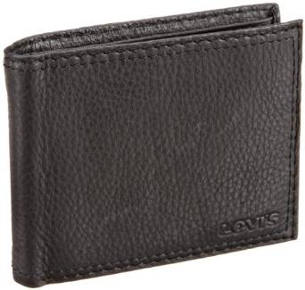Levi's Men´s Extra Capacity Leather Slimfold Wallet