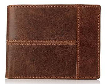 Secret Felicity Men's Vintage Genuine Leather Money Clip Bifold Wallet