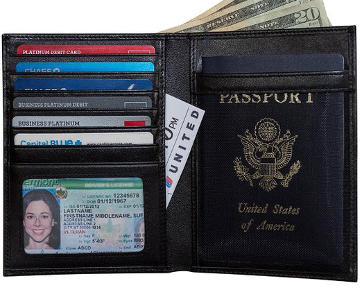 Travel Navigator RFID Blocking Passport Holder & Travel Wallet