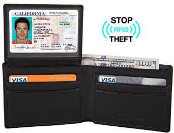 Travelambo Genuine Leather RFID Blocking Men's Wallet