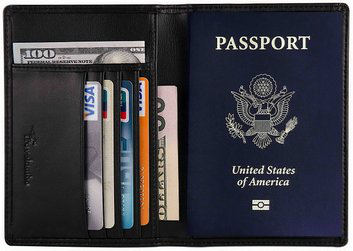 Travelambo RFID Blocking Passport Holder Wallet
